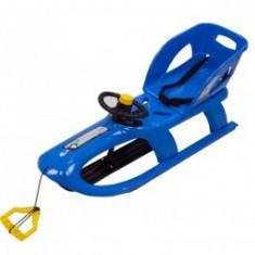 Saniuta copii 3 Ani + cu volan Cangaroo Bullet Control Blue