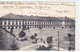 SZASZVAROS ,ORASTIE ,CAZARMA MILITARA,1915,ROMANIA., Circulata, Fotografie