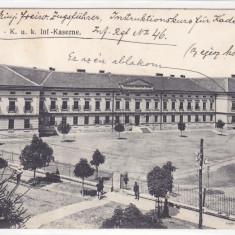 SZASZVAROS, ORASTIE, CAZARMA MILITARA, 1915, ROMANIA. - Carte Postala Transilvania 1904-1918, Circulata, Fotografie