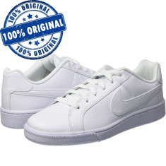 Pantofi sport Nike Court Royale pentru barbati - adidasi originali - piele - Adidasi barbati Nike, Marime: 42.5, Culoare: Alb, Piele naturala