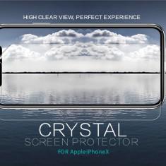 Folie iPhone X Transparenta by Nillkin - Folie de protectie Apple, Lucioasa
