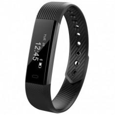 Bratara Fitness iUni ID115 Plus, Display OLED, Bluetooth, Pedometru, Monitorizare puls, Notificari, Android si iOS, Negru MediaTech Power