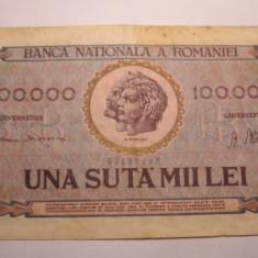 100000 lei 1947 Ianuarie - Bancnota romaneasca