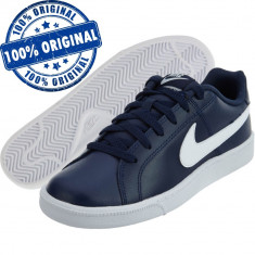 Pantofi sport Nike Court Royale pentru barbati - adidasi originali - piele - Adidasi barbati Nike, Marime: 40, 41, 42, 42.5, 44, 44.5, 45, 45.5, Culoare: Indigo, Piele naturala