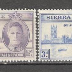 Sierra Leone .1946 1 an Victoria KZ.628, Nestampilat