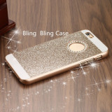 Husa iPhone 6 6S Diamonds Gold, iPhone 6/6S, Auriu, Plastic, Apple