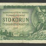 CEHOSLOVACIA 100 COROANE KORUN 1961 [1] P-91 - bancnota europa