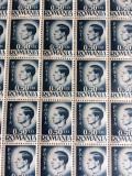 ROMANIA TIMBRE REGELE MIHAI 50 Bani  - COlita a  100 BUC., Regi, Nestampilat