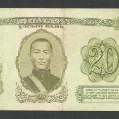 MONGOLIA 20 TUGRIK 1981 [1] P-46 - bancnota asia