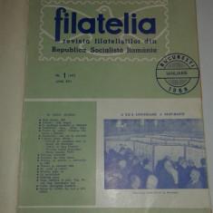 FILATELIA revista filatelistilor din R.S.R. anul 1968 complet, 12 numere