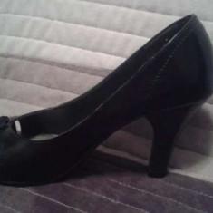 Pantofi de dama Afrodita - Pantof dama, Culoare: Negru, Marime: 37, Cu toc