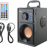 Sistem Audio Portabil Bluetooth cu Subwoofer Incorporat si Radio FM MP3 Player cu Telecomanda - Boxa activa