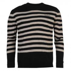 Bluza Pulover Barbati Pierre Cardin Stripe original - marimea L - Bluza barbati, Marime: L, Culoare: Negru