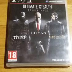 PS3 Ultimate stealth triple pack - joc original by WADDER - Jocuri PS3 Square Enix, Actiune, 18+, Single player