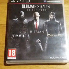 PS3 Ultimate stealth triple pack - joc original by WADDER - Jocuri PS3 Square Enix, Actiune, 18+, Single player