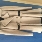 Palton - Palton dama Ellos, Marime: 40, Culoare: Crem