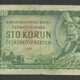 CEHOSLOVACIA 100 COROANE KORUN 1961 [2] P-91 - bancnota europa