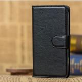 Husa Asus Zenfone GO ZB500KL 5.0 inch Flip Case Inchidere Magnetica Neagra, Universala, Negru, Piele Ecologica