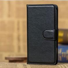 Husa Asus Zenfone GO ZB500KL 5.0 inch Flip Case Inchidere Magnetica Neagra - Husa Telefon Asus, Universala, Negru, Piele Ecologica, Fara snur, Carcasa