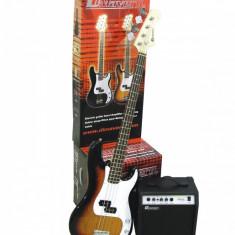 Set chitara electrica/bass, sunburst, Dimavery BGS-10SB - Chitara bass