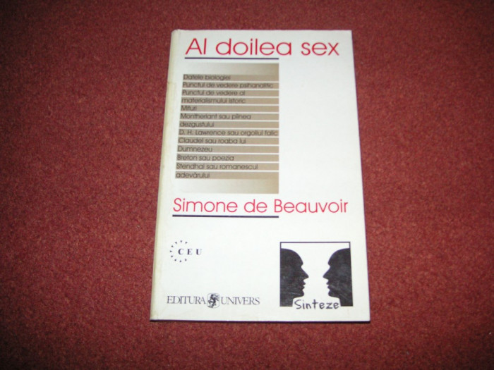 Al Doilea Sex - Simone De Beauvoir (vol.1) foto mare