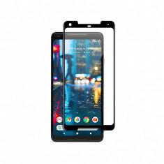 Folie protectie sticla securizata 3D curbata pentru Google Pixel 2 XL, negru - Folie de protectie
