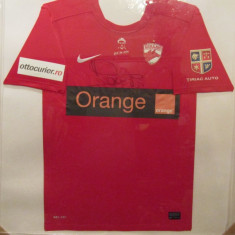 Tricou fotbal-oficial DINAMO BUCURESTI - jucatorul Danciulescu + autograf - Tricou echipa fotbal, Marime: L, Culoare: Rosu