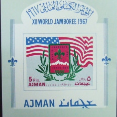 AJMAN - CERCETASI, SCUTISM, 1967, 1 S/SH,  NEDANT., NEOB.  -  AJ 126A