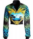 Jacheta/bomber Versace H&M, Aqua