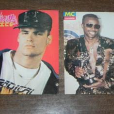 Lot 2 carti postale colectie Vanilla Ice si MC Hammer rockland arta grafica - Carte postala tematica, Necirculata, Printata