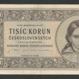 CEHOSLOVACIA 1000 1.000 COROANE KORUN 1945 [1] P-74, XF - bancnota europa