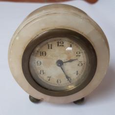 CEAS VECHI DE MASA SAU BIROU - ART-DECO -1920 - MARMURA - Ceas de masa