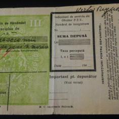 Lot 8 buletine de varsamant CEC/ anii 1940 - Hartie cu Antet