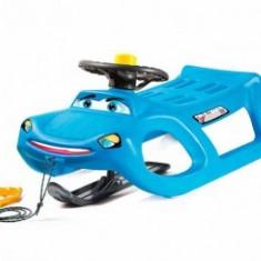 Saniuta copii cu volan Cangaroo Zigi Zet Control Albastru