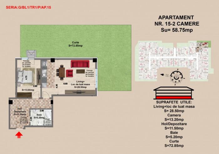 Apartament 2 camere Brasov, zona Tractorul