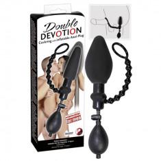 Inel penis cu Dop Anal gonflabil - Sex Shop Erotic24 - Dildo anal