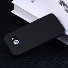 Husa Samsung Galaxy S7 Edge Slim Mata Black, Negru, Plastic