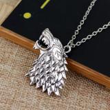 Pandantiv Medalion Lantisor Lup Game Of Thrones STARK HOUSE Patch lup 3D - Pandantiv fashion