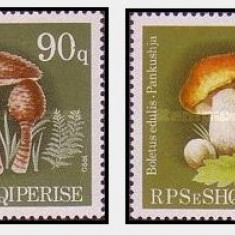Albania 1990 - Ciuperci, serie neuzata