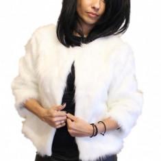 Bolero din blana artificiala BLR01A - Jacheta dama, Marime: Universal, Culoare: Alb