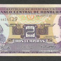 HONDURAS  2  LEMPIRAS  2004  UNC  [1]  P-80 Ae  ,  necirculata
