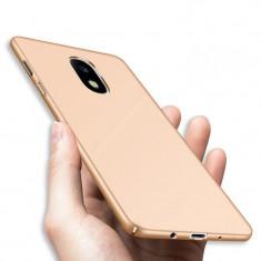 Husa Samsung Galaxy J7 2017 Slim Mata Gold - Husa Telefon Samsung, Auriu, Plastic, Fara snur, Carcasa
