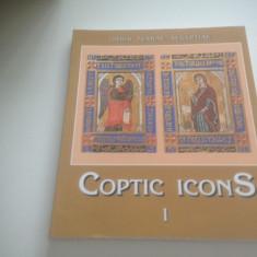 COPTIC ICONS, VOL.1, ICOANE DIN BISERICI SI MANASTIRI EGIPTENE. TEXT IN ENGLEZA