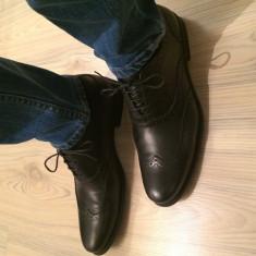 Pantofi Oxford Zara - Pantofi barbat, Marime: 42, Culoare: Negru