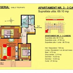 Apartament 3 camere Brasov, zona Tractorul, Parter