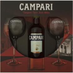 Pachet cadou Campari + doua pahare