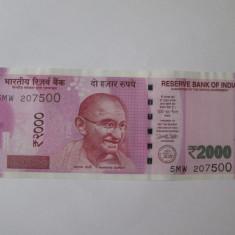 India 2000 Rupees 2017 UNC - bancnota asia