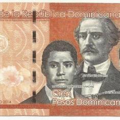REPUBLICA  DOMINICANA   100  PESOS  DOMINICANOS   2014  [7]  P-190  ,  XF