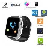 Ceas smart bluetooth 4.0, slot sim, camera 3 mp, 17 functii, touchscreen, negru Digital Media - Smartwatch