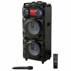 Boxa portabila Akai, ABTS-T1203, 90W, Bluetooth, Karaoke, Radio, Negru